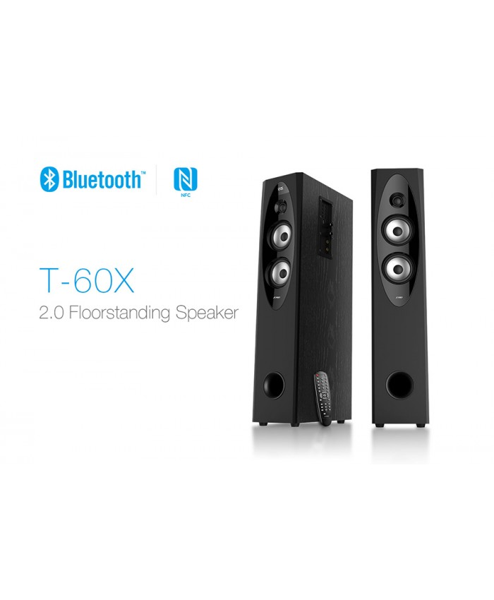 F&D 2:0 Floor Standing Bluetooth Tower Speaker T60X