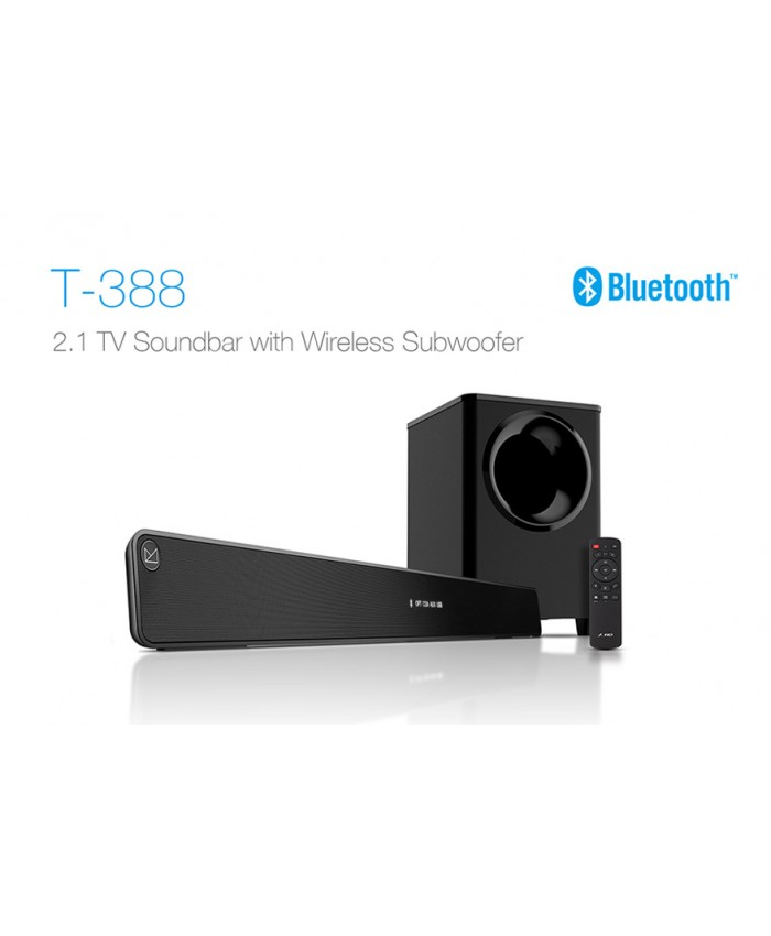 F&D 2:1 Bluetooth Soundbar T388