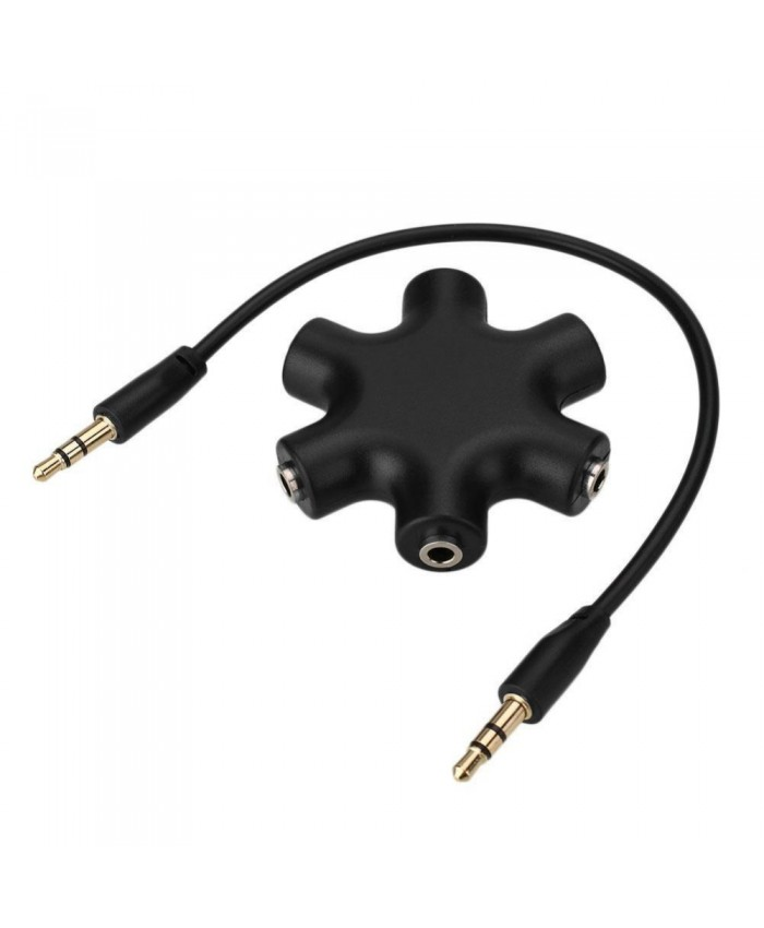 1-to-5 Jack Splitter 3.5mm Audio Plug