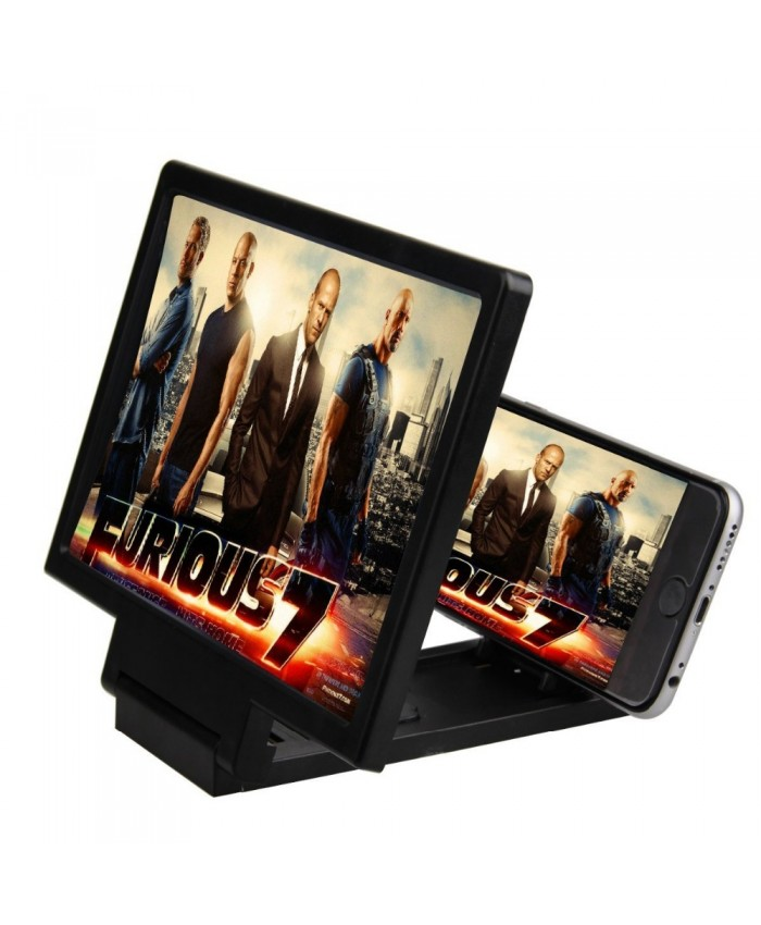 Smart Cell Phone Stand Holder Screen Enlarger Magnifying Magnifier for 3D Movie Video Display