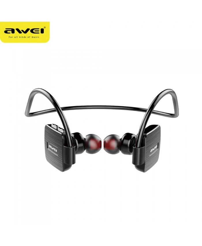 Awei A848BL Wireless Bluetooth Earphone With Built-In Microphone Stereo Sports Waterproof IPX4 Neckband