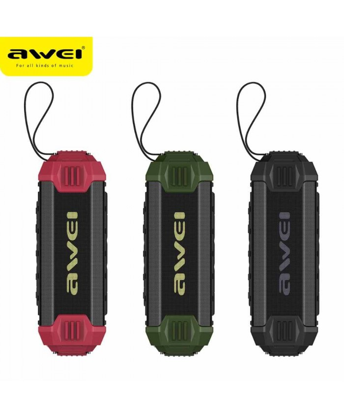 Awei Y280 Outdoor IPX4 Waterproof Wireless Bluetooth Speakers With Power Bank