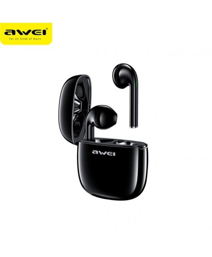 Awei T28 TWS Wireless Bluetooth Smart Touch Sports Dual Earbuds with Charging Case