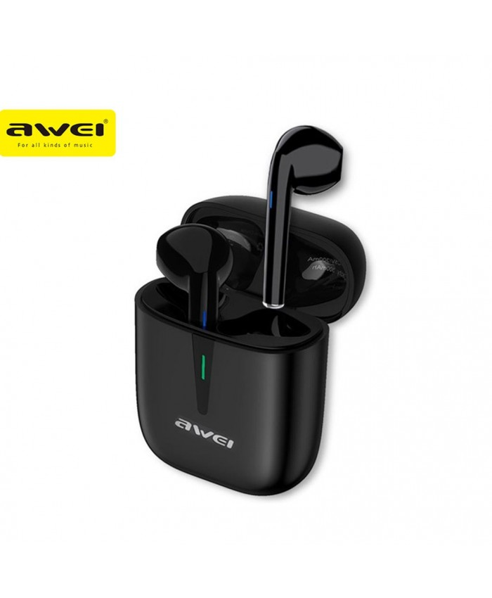 Awei T21 TWS Wireless Bluetooth Sports Earbuds Type-C Gaming With Built-In Microphone