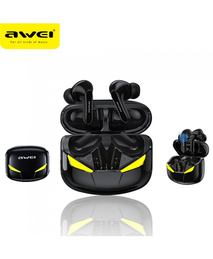 AWEI T35 Gaming Earbuds TWS Hands free Low Latency HiFi Deep Bass Sound True Wireless Stereo Earphone With Microphone
