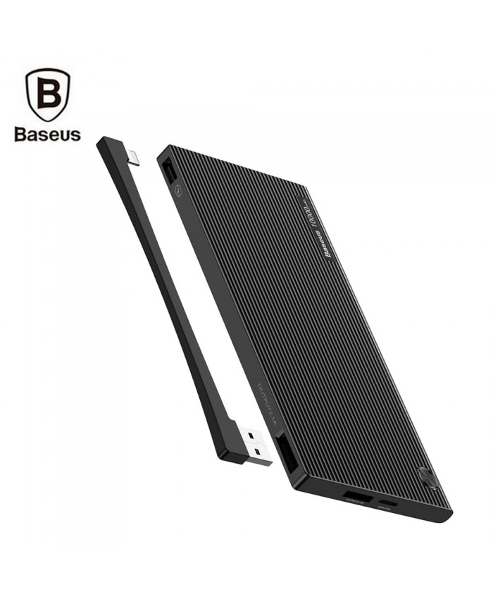 Baseus 10000mAh Digital Display Power Bank Dual USB Micro USB Type-C