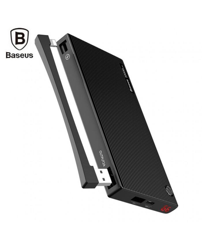 Baseus 20000mAh Digital Display QC3.0 Power Bank Dual USB Micro USB Type-C