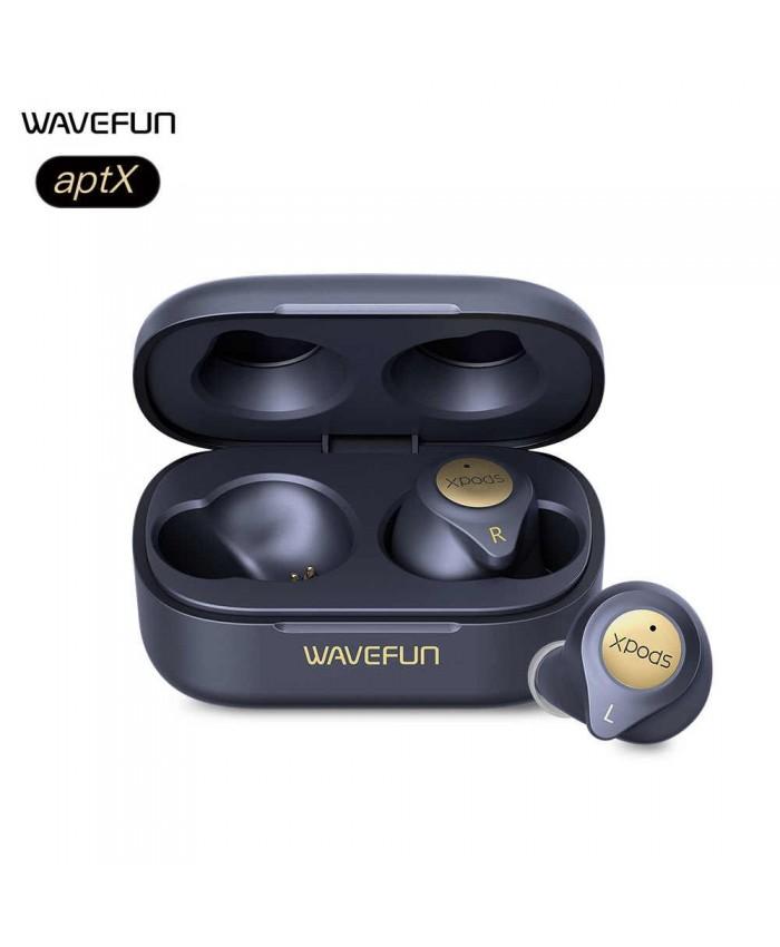 Wavefun XPods 3T Wireless Bluetooth V5 aptX HIFI 0 CVC8.0 Earbuds with Dual Microphone