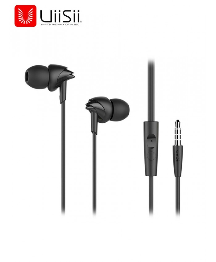 UiiSii C200 Earphone With Mic stereo earbud In-Ear Wire Control