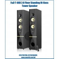 F&D 2:0 High Bass Digital Sound Tower Speaker T-88X