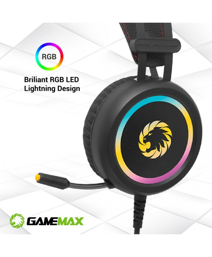 GameMax HG3500 7.1 Virtual Surround ARGB Gaming Headset With Built-In Microphone