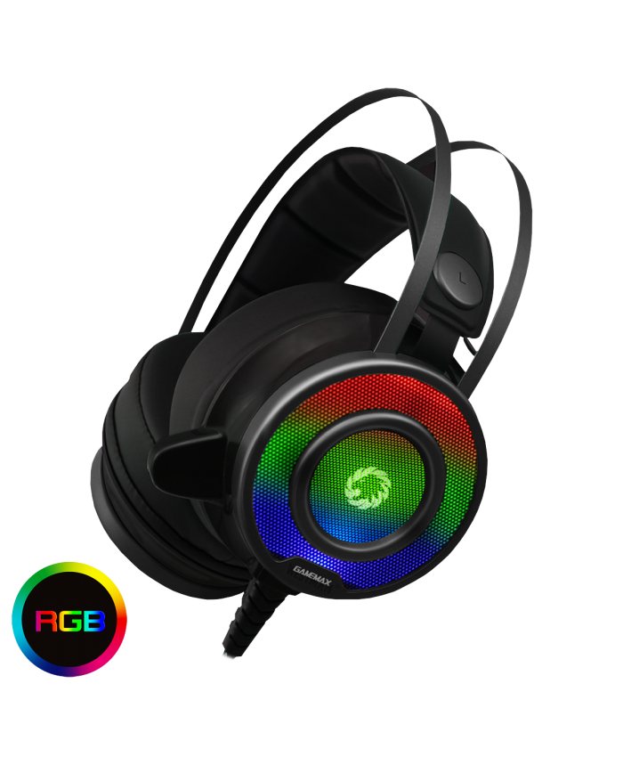 Gamemax G200 RGB Gaming Headset With Built-In Microphone