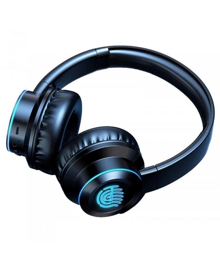 Joyroom JR-H16 Creative Wireless Subwoofer Multifunction Bluetooth Headset Folding Glow Card Noise Reduction Headset