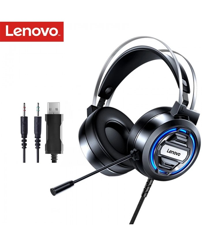 Lenovo H401 RGB Gaming Headset 7.1 Stereo Surround Esports Headphones with MIC