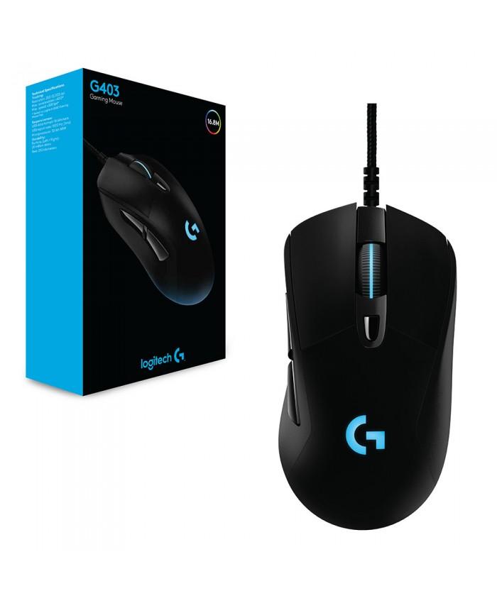 Logitech G403 Prodigy Gaming Mouse 12000DPI RGB Weightable Ergonomics With High Performance Gaming Sensor