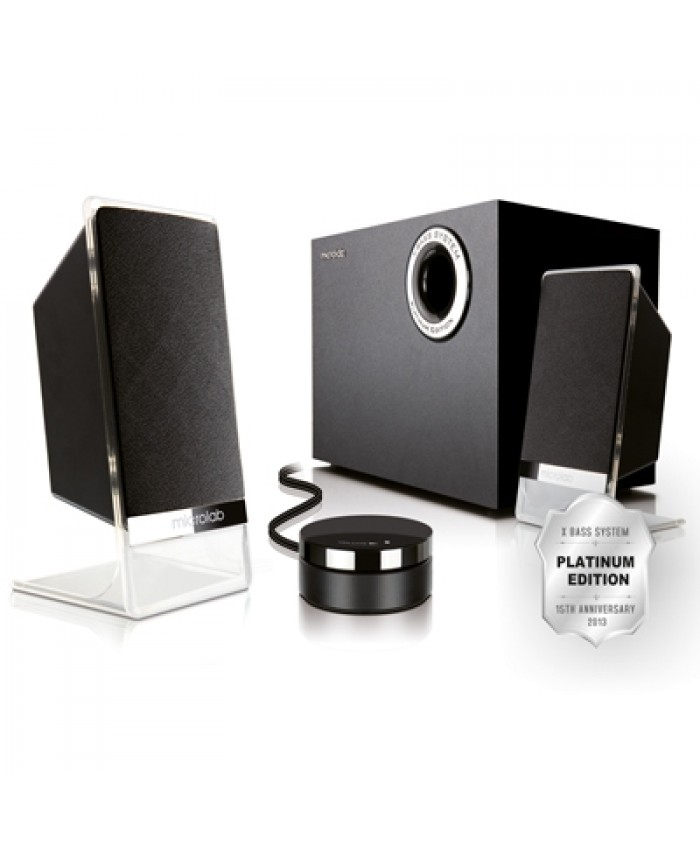 Microlab 2:1 Multimedia Speaker M 200 Platinum