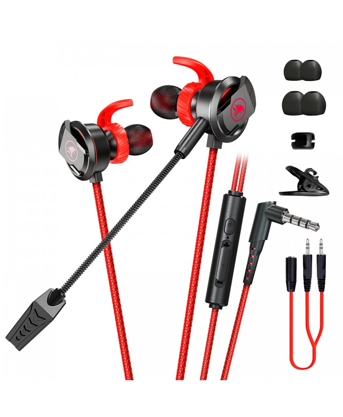 Plextone xMOWI RX3 3D Stereo Sound Dual Mic Gaming earphone Noise Isolating in-Ear E-Sport Powerful Bass Wired Earbuds