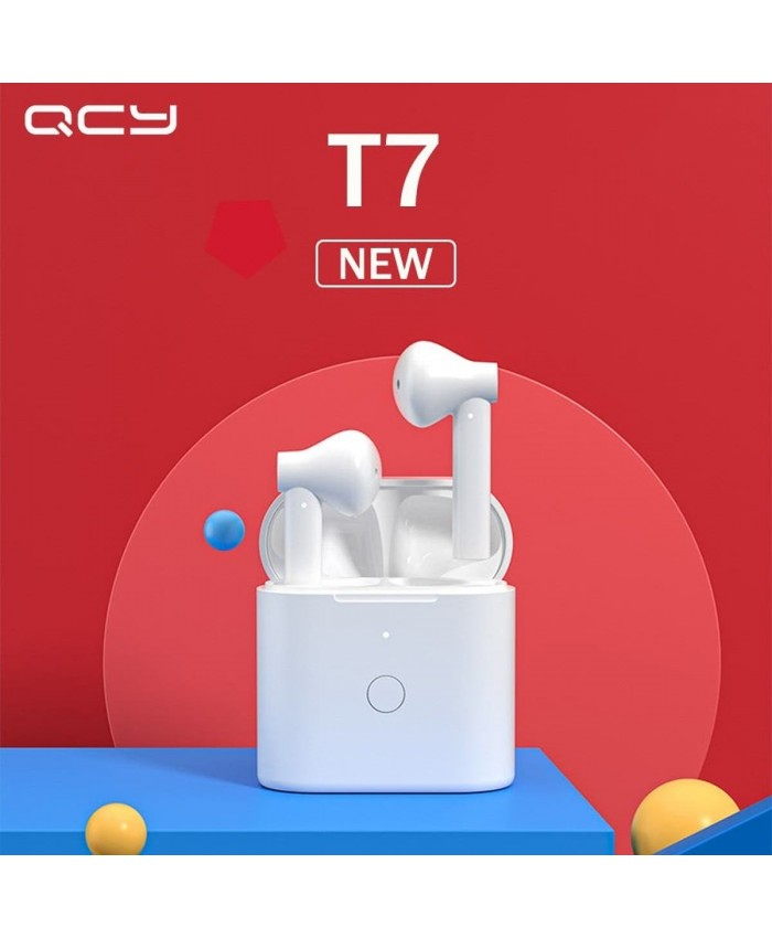 QCY T7 HiFi Stereo Bass Earbuds True TWS Hall Switch Headset ENC Noise Cancelling with Mic