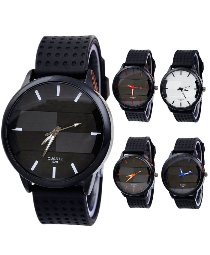Men's Casual Fashion Watch Stereo Surface Silicone Watch  0912
