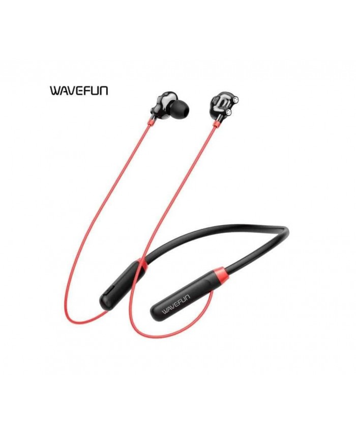 Wavefun Flex U Dual Drivers Strong Bass Wireless Bluetooth Earphone 10 Hours Music Time with Built-in Micophone