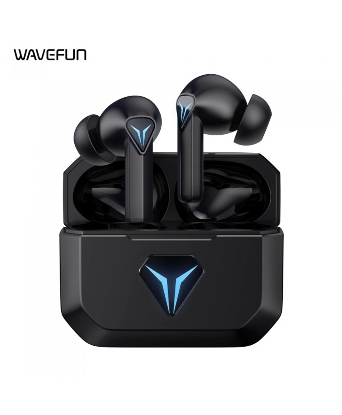 Wavefun G100 Wireless Bluetooth Game Enhanced Volume Control Earbuds With Low Latency Titanium Driver