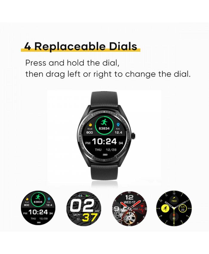 Wavefun Aidig Smart Watch Touch Screen  Fitness Tracker Heart Rate Monitor Blood Pressure 460mAh Big Battery
