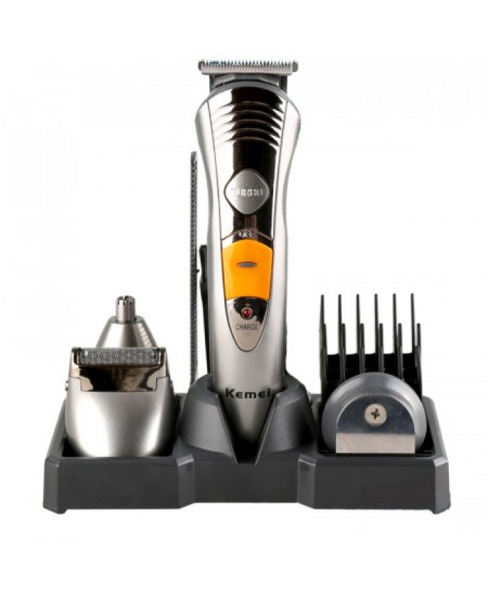 Kemei Cord/Cordless 7In 1 Multi-Functional Hair Trimmer & Shaver Full Package (KM-580A)