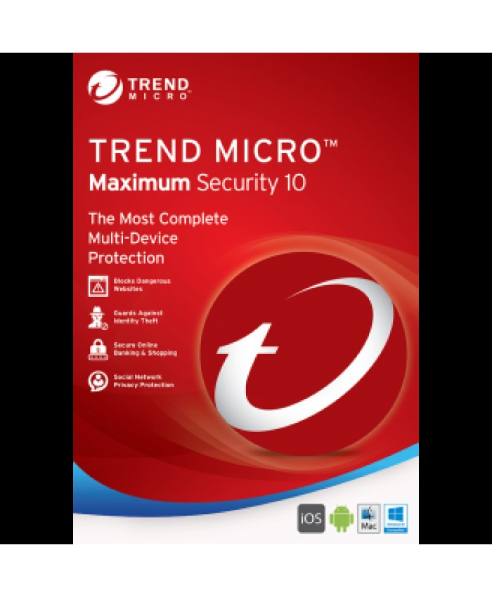 Trend Micro Maximum Security One User 1 Year