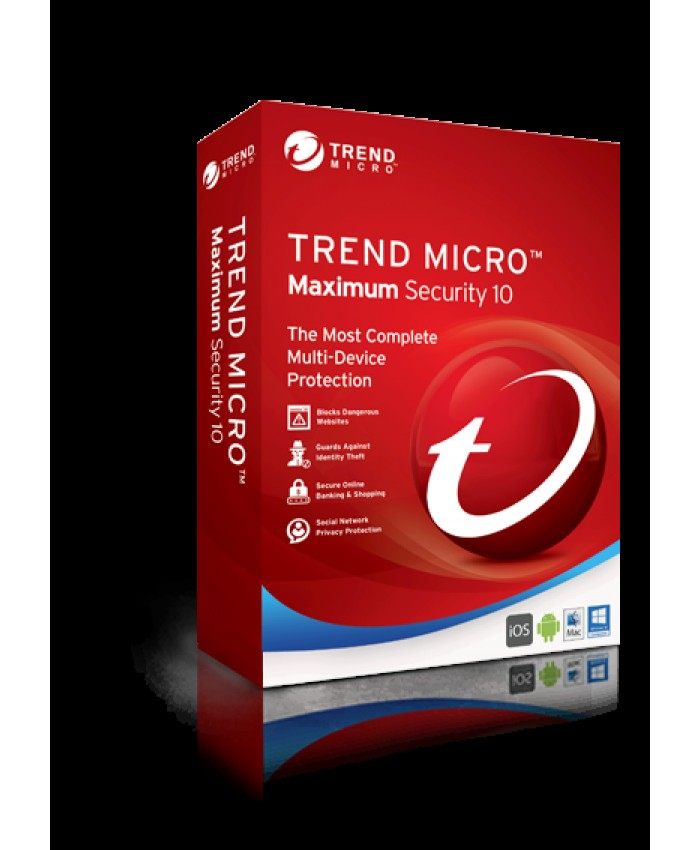 Trend Micro Maximum Security Single User 3 Years