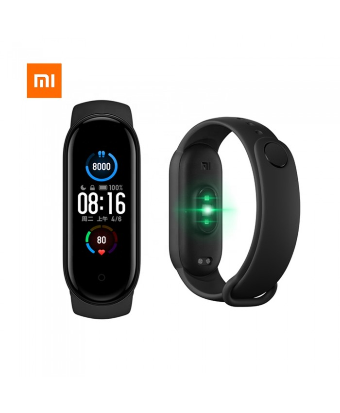 Global Version Xiaomi Mi Band 5 1.1 Inch AMOLED Wristband Customized Watch Face 11 Sport Modes Tracker Smart Watch