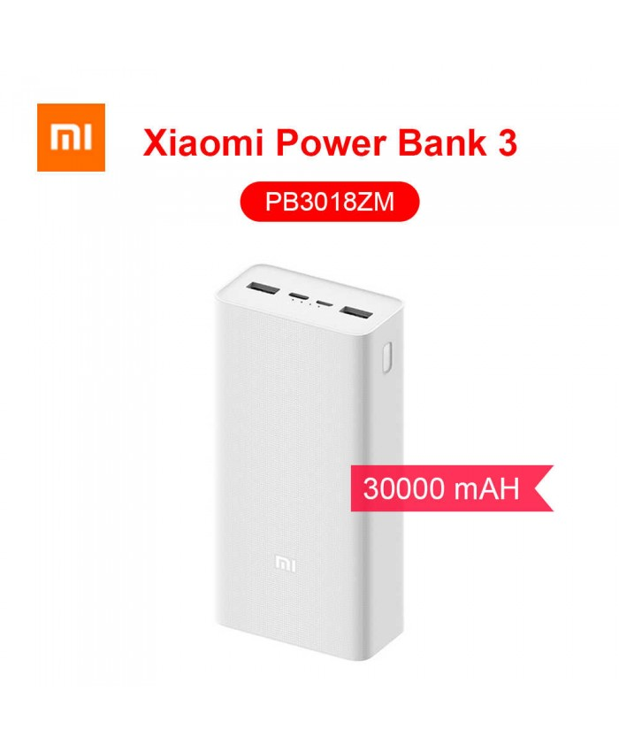 Xiaomi Mi 30000mAh Power Bank 3 PB3018ZM 18W Multi In & Out Quick Charger Type-C